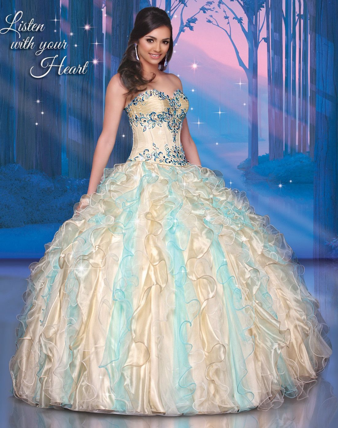 365eb90e1a Disney Royal Ball Quinceanera Dress Pocahontas Style 41056 is made for  Sweet 15 girls who want to look like a beautiful Princess on her special  day.