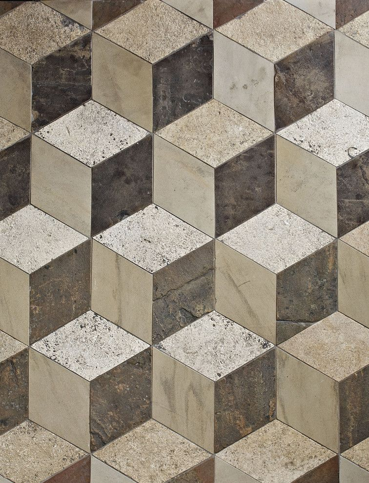 Antique Reclaimed 3d Floor Tiles Antique Reclaimed 3d Floor Unifies Three