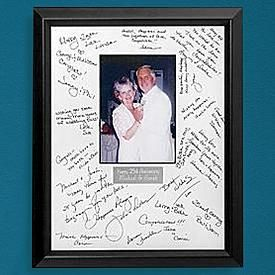 weddinganniversary autograph frame i did this for my dads 60th surprise bday bash