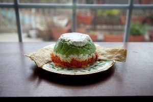 Christmas Layered Pesto Cheese Spread