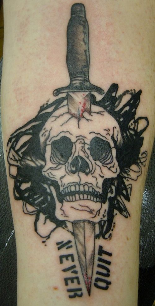 Traditional Skull And Dagger Tattoo Google Search Girly Skull Tattoos Tattoos For Guys Rose And Dagger Tattoo