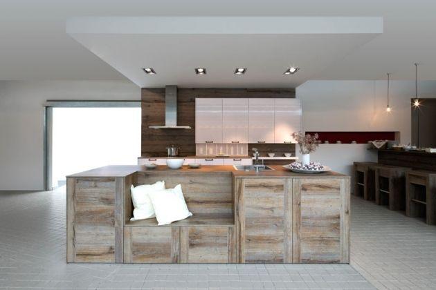 Vintage küchen modern  Holzküche Vintage-Oprtik Furnier Fronten-hochmodernes Design ...