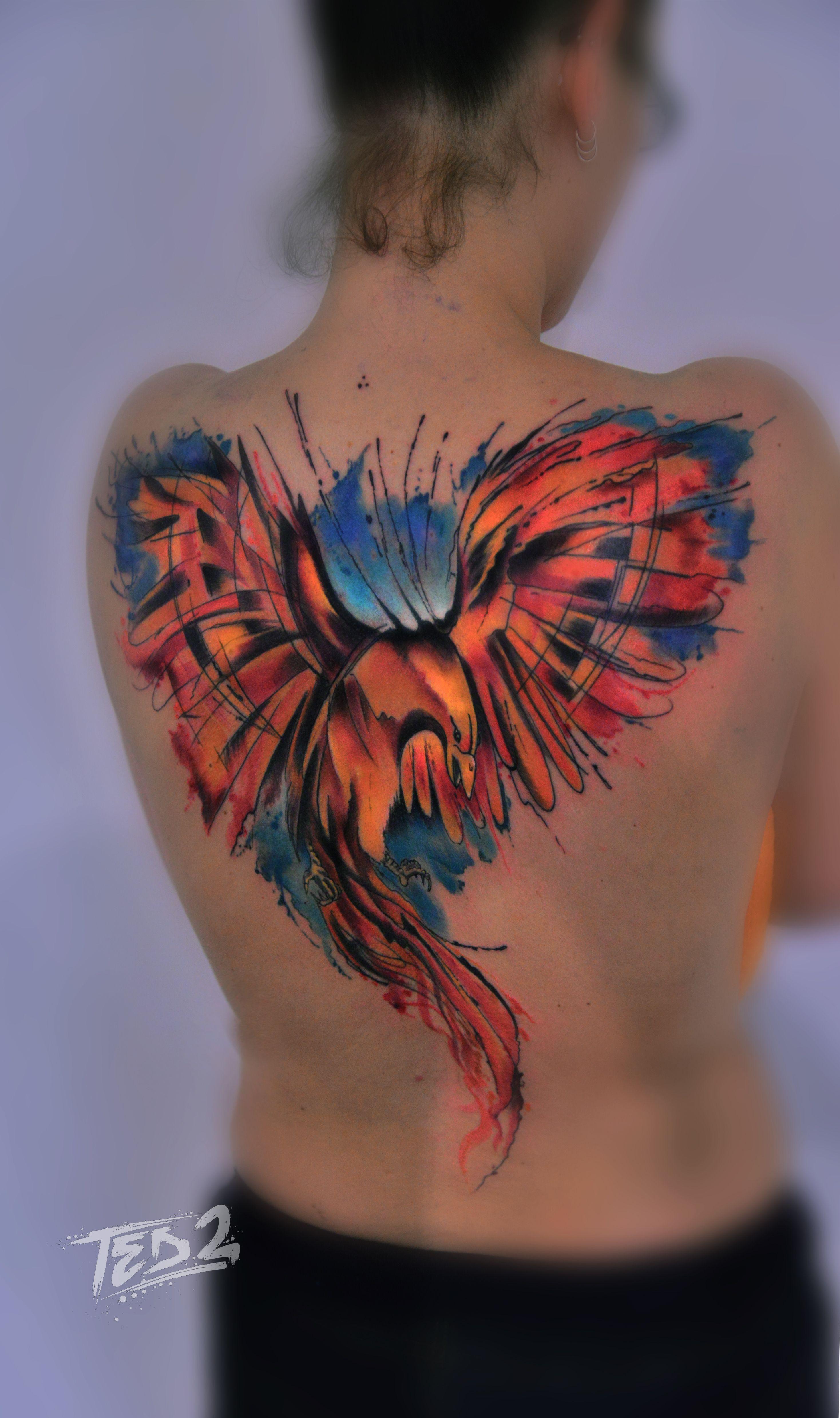 Watercolor Phönix,Watercolour phönix,phonix,Fönix,phoenix