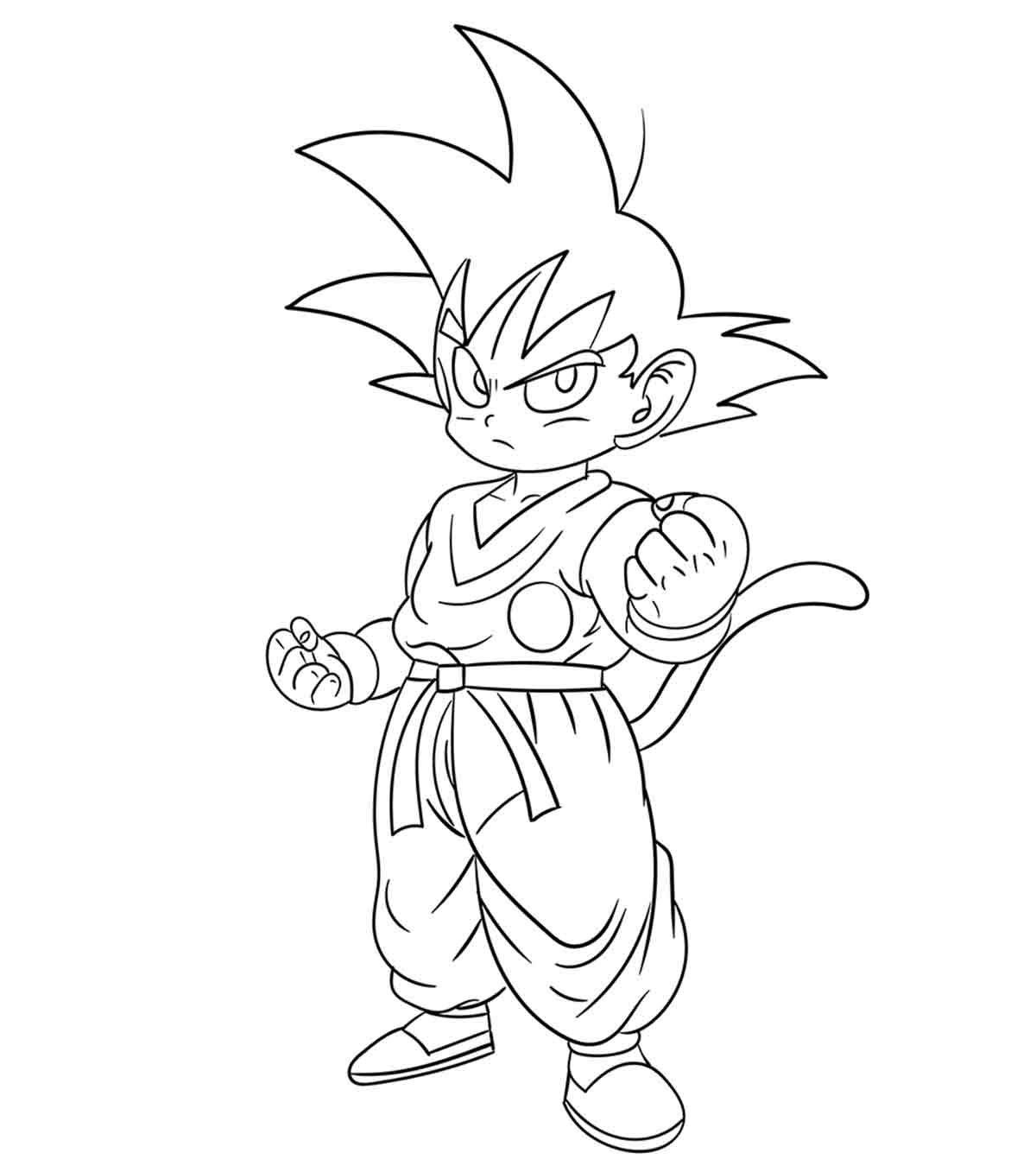 Dragon Ball Z Coloring Pages Goku Gambar Manga