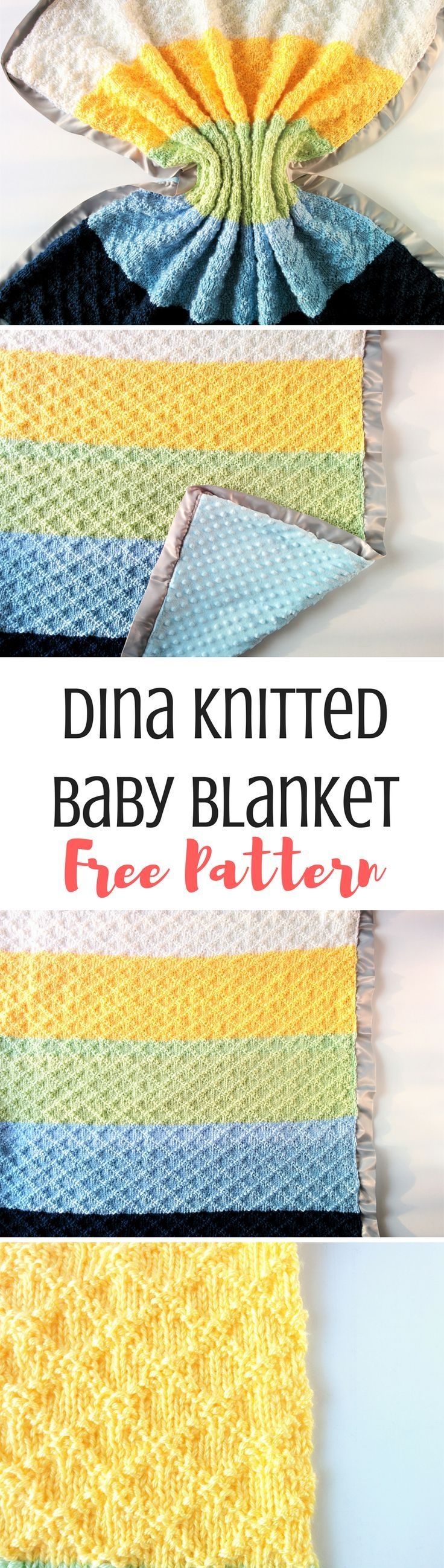 Dina Blanket: Super Easy Knit Baby Blanket Pattern | Easy knit baby ...