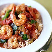 Weight Watchers - Gamba's met paprika en rijst - 7pt