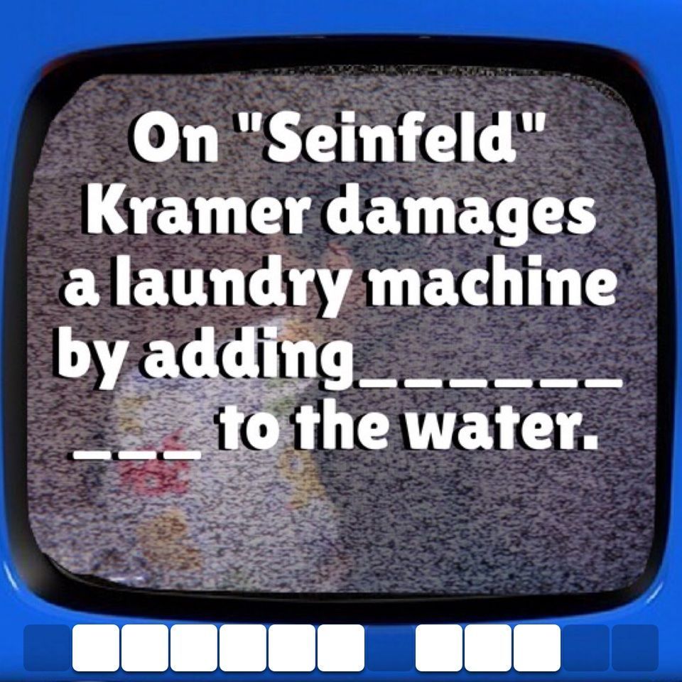 A Kramer trivia question #seinfeld #wordpuzzle | TV Trivia Questions