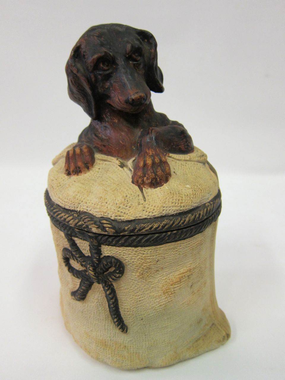 Terra Cotta Figural Daschund Tobacco Jar From Zinziantiques On