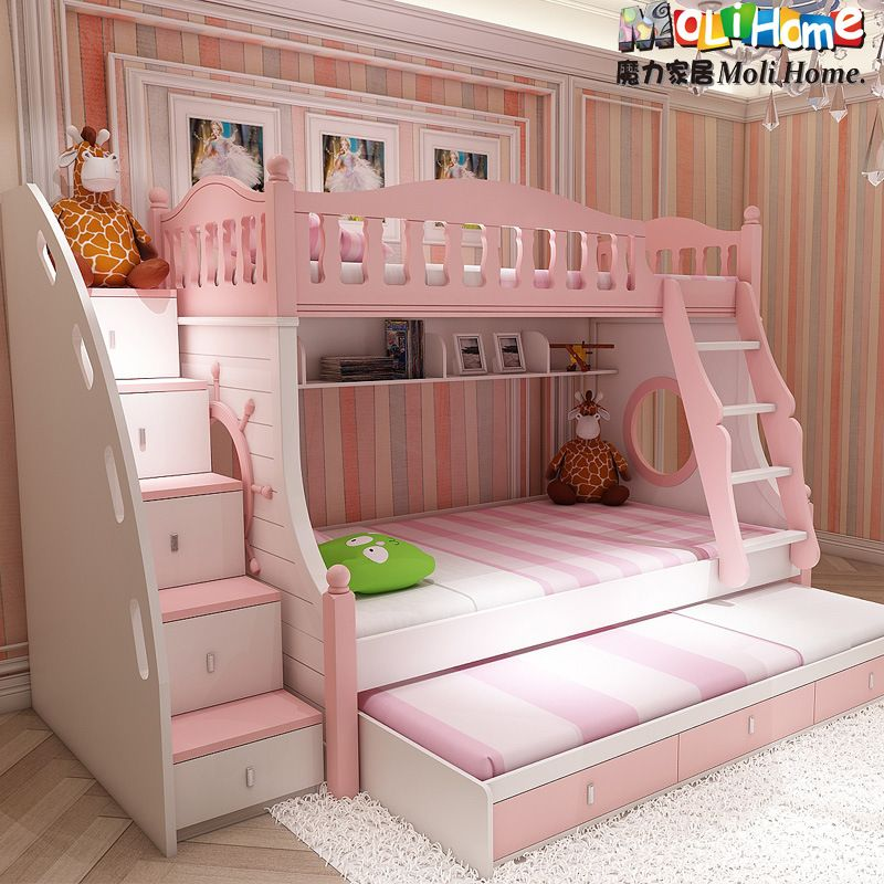 Pin By Ashley Pinnix On Gillian Bunk Beds With Drawers Bed For Girls Room Bunk Bed With Trundle