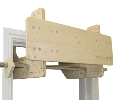 The Compact Training Station is a mounting system for climbing fingerboards.