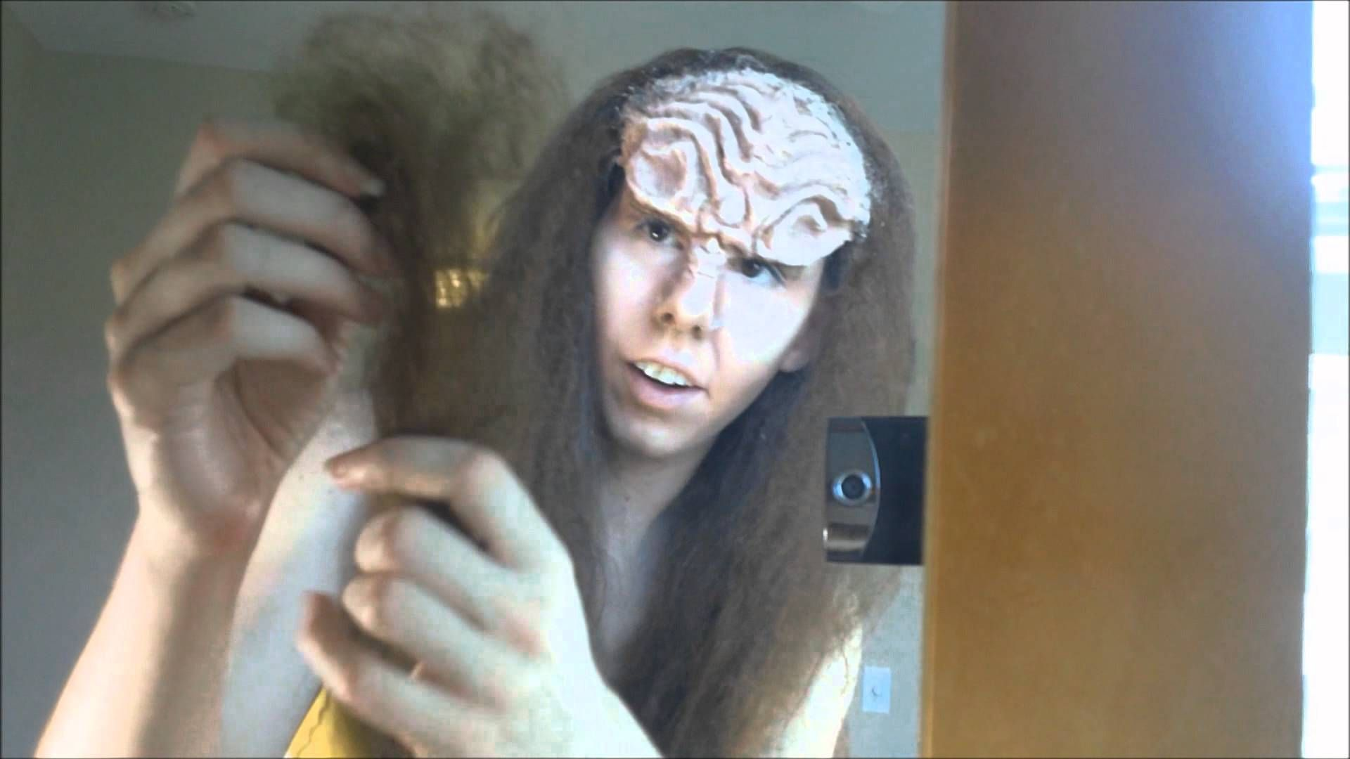 Klingon Makeup Tutorial 2 2 Klingon Star Trek Costume Makeup Tutorial