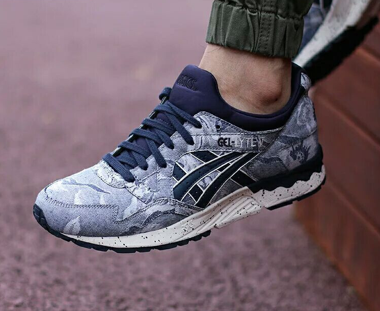 ASICS GEL LYTE V 5 JAPANESE TEXTILE DENIM INDIAN INK BLUE H612N 5050  #asicsgellyte #