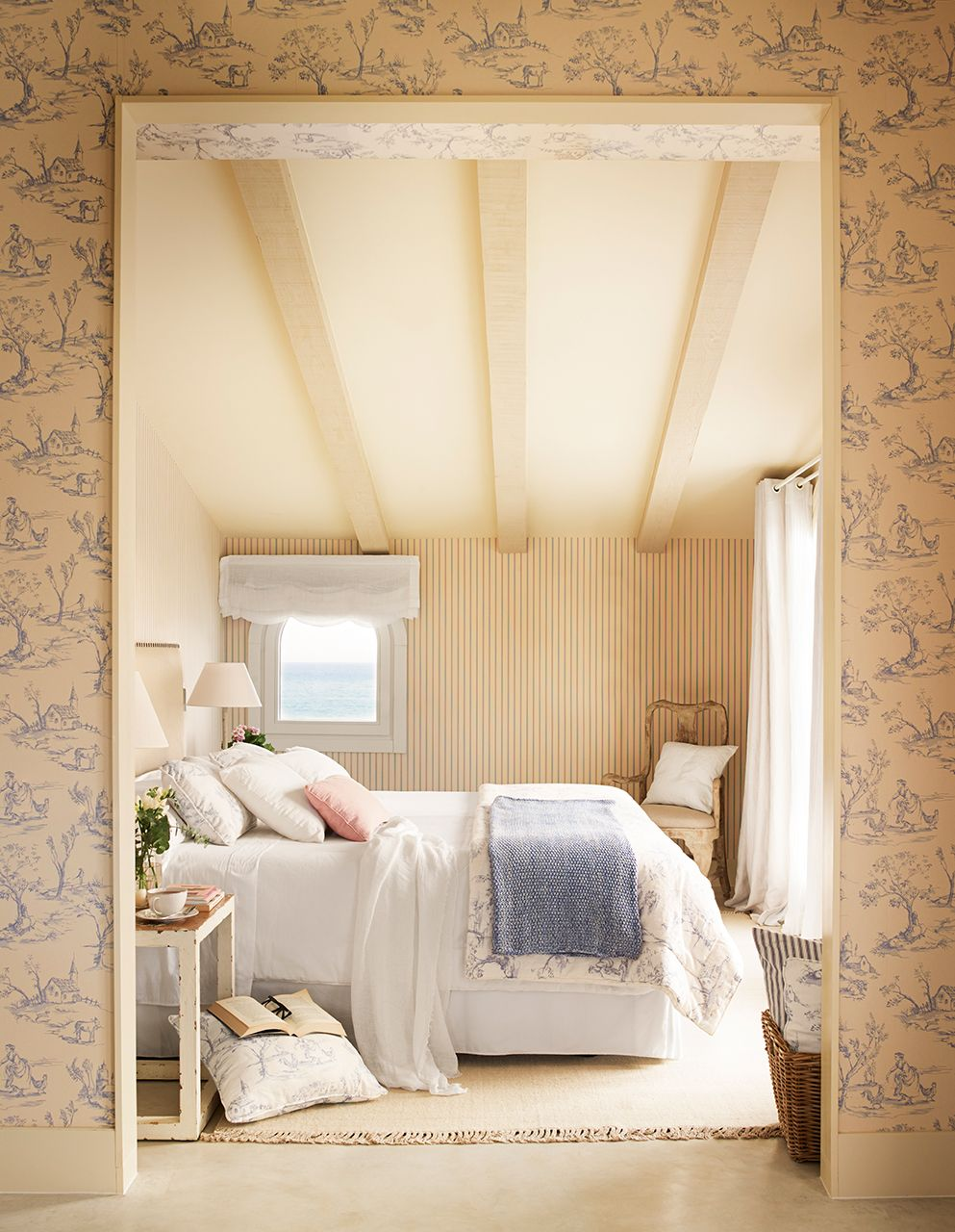Entrada A Dormitorio Principal Con Papel Pintado Dormitorios  ~ Papel Pintado Dormitorio Blanco