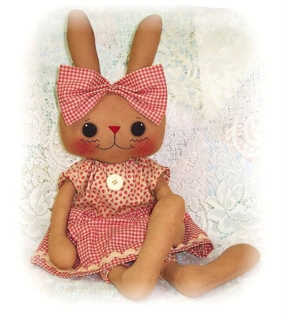 Bunny Rabbit PATTERN, PDF, Instant Download, Rag Doll, Softie, Soft ...
