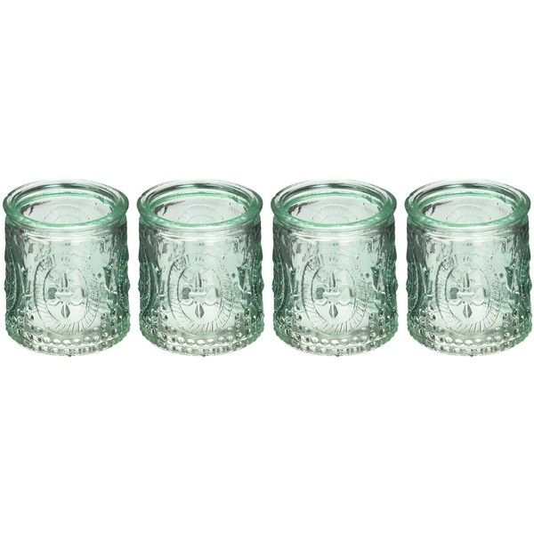 Kate Aspen Vintage Blue Glass Tealight Holder (Set of 4) ($6.99) ❤ liked on Polyvore featuring home, home decor, candles & candleholders, blue tea light holders, blue home accessories, blue glass tealight holder, blue home decor and glass tealight candle holders