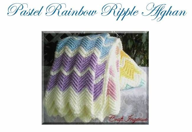 Pastel Rainbow Ripple Afghan Free Crochet Pattern | crochet and knit ...