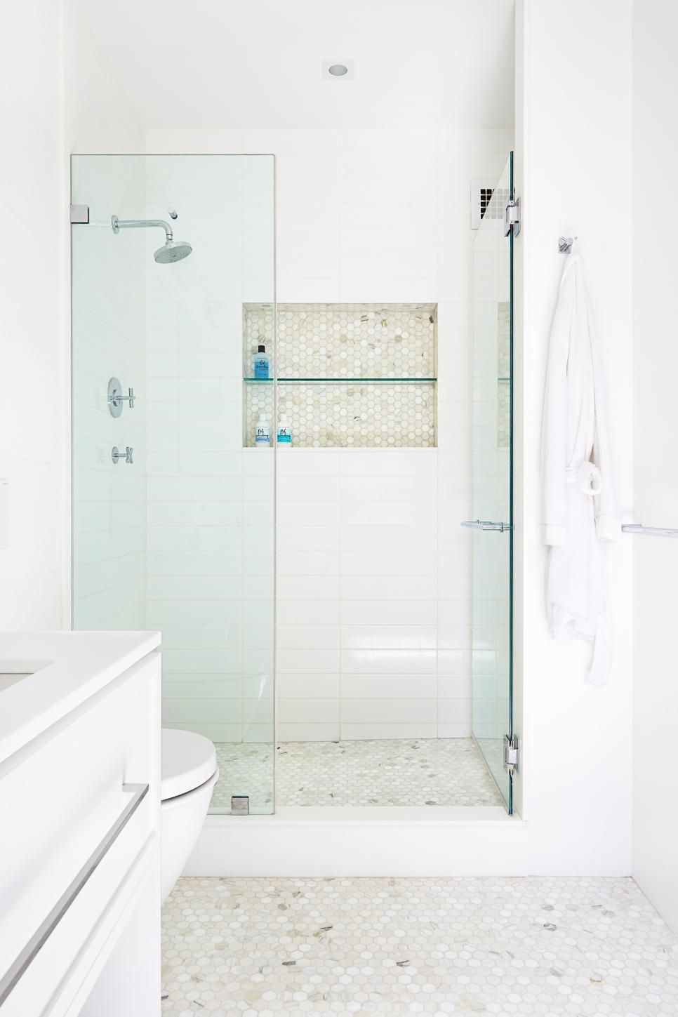 Both bathrooms in this two bedroom apartment are comfortably sized ...