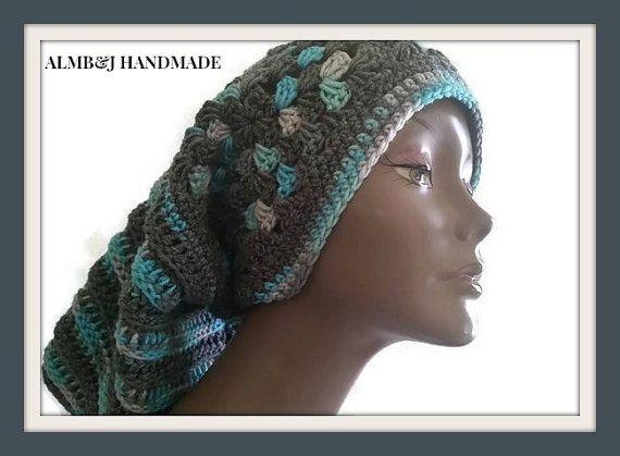 Granny Square Hat Slouchy Crochet Hat Unisex Slouchy Hat Women