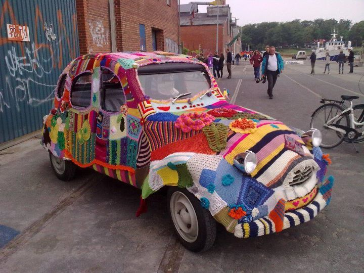Yes, this car is wearing a sweater :)