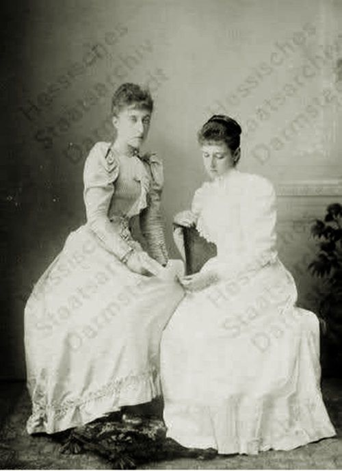 Princess Alix with cousin Princess Helena Victoria of Schleswig-Holstein.