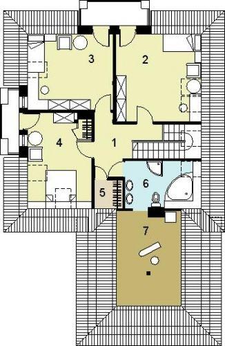 Etaj mansarda cu 3 dormitoare si 2 baie