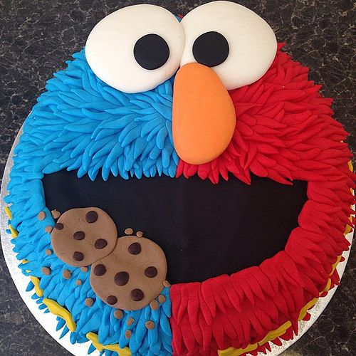 Pin By Linda Carroll On Uno Cookie Monster Birthday Party