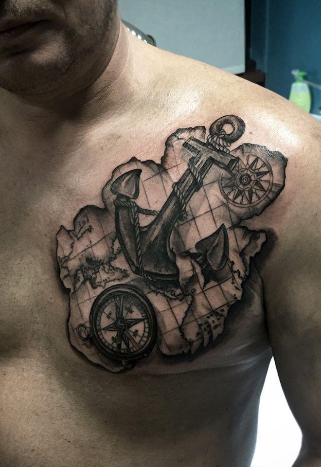 Anchor Compass Tattoo | Fresh Tattoos | Pinterest | Anchor ...