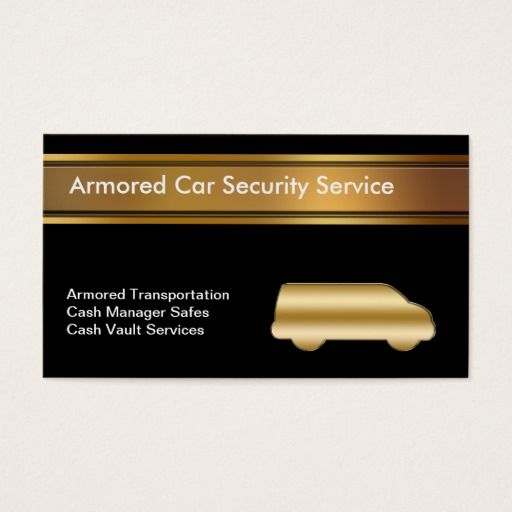 Armored Car Business Cards Security Guard Business Cards
