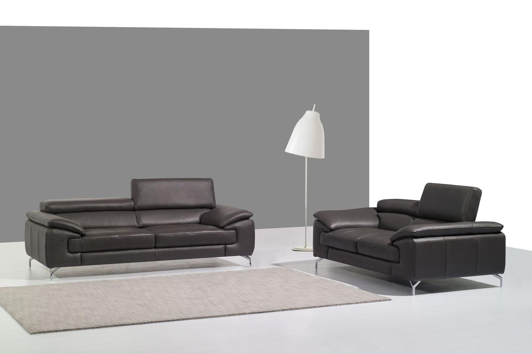 Jm973 Gray Sofa Leather Sofa Set Italian Leather Sofa Grey Sofa Set