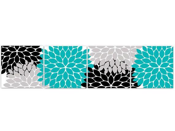 Best Home Decor Canvas Or Prints Aqua Bedroom Decor Aqua And 640 x 480