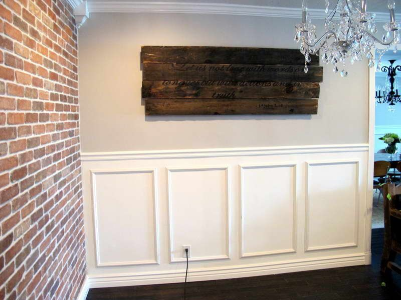 Brick And Wainscoting Wall My Parents Had This Look In