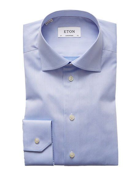 Photo of Eton Contemporary Fit Twill Dress Shirt