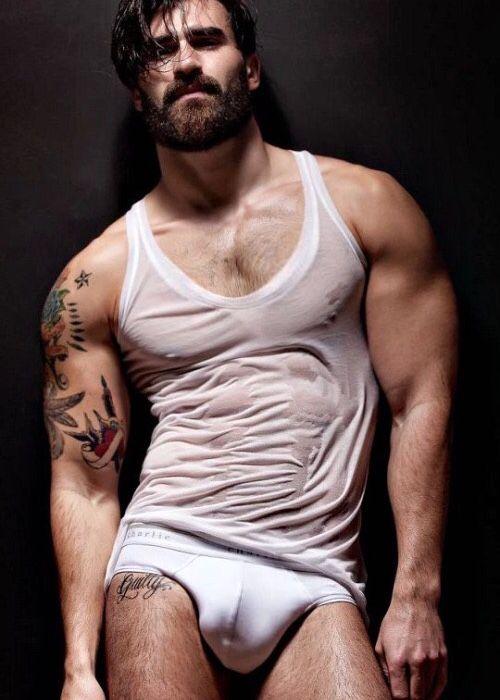 Sexy hairy men in underwear