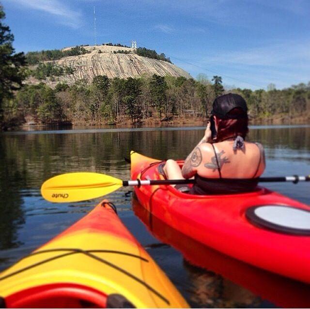 Kayaking In Stone Mountain Lake Photo Credit Mich Phillips