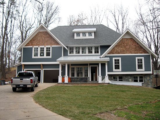 Red house architects and staats developers split level for Craftsman style split level homes