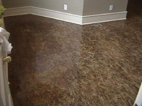 Paint Osb Subfloors Finished Osb Floor Plywood Floors Pinterest Repainting Kitchen