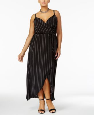 58e9ad3458 Love Squared Trendy Plus Size Faux-Wrap Maxi Dress