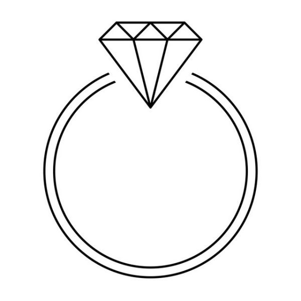 free symbolic wedding rings coloring pages printable