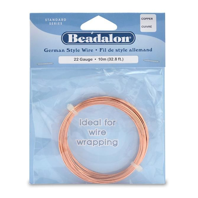 22 Gauge Round Copper German Style Wire (32.8ft) | Products ...