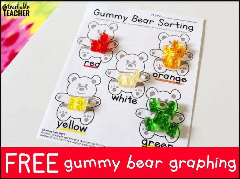 Free Gummy Bear Graphing A Teachable Teacher Gummy Bears Teachable Graphing Activities