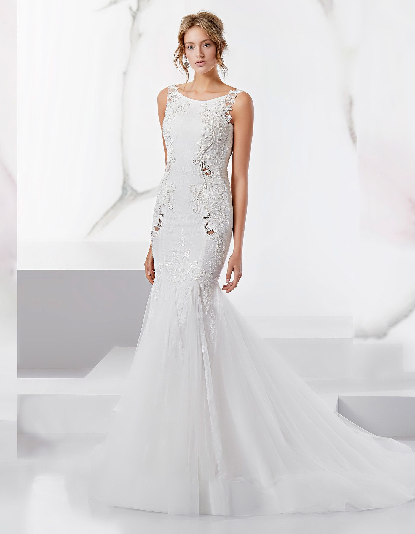 Sophisticated Lace Wedding Dress 18521 By Nicole Spose Bridal