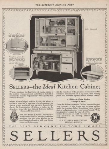 1921 Sellers Mastercraft Kitchen Cabinet Elwood Indiana Hoosier Cuboard 1920s Ad Hoosier Cabinet Hoosier Cabinets Elwood Indiana