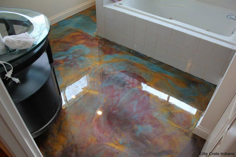 Residential Concrete Applications Gallery Painted Concrete