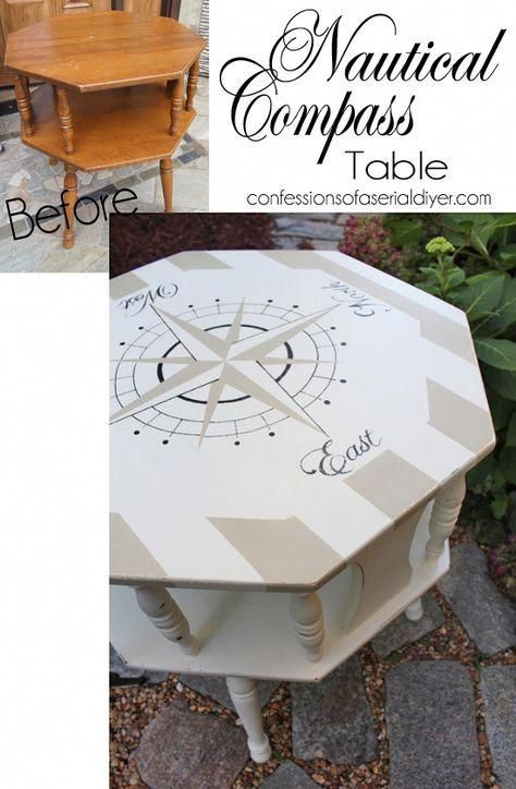 Photo of Nautical Compass Table {Thrifting Can Benefit Animals too!}