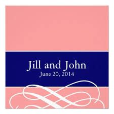 navy blue wedding invitations modern - Google Search