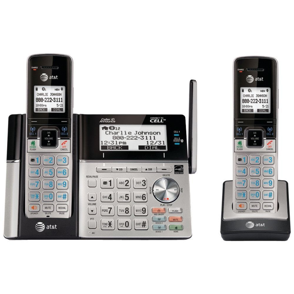 att connect to cell answering system with dual caller id 2 handset rh pinterest com AT&T Answering System Manuals AT&T Answering Machine Manuals