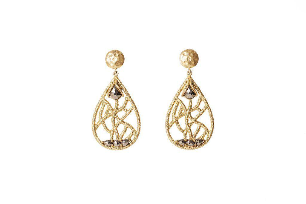 Madison Chandelier Earrings - Pyrite