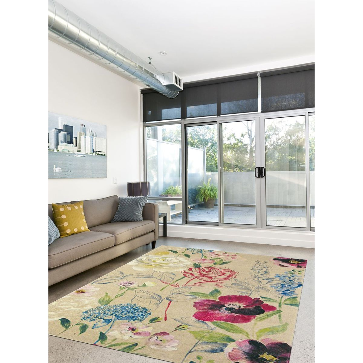 Tapis de Salon Moderne Design PERFUME - Mélange pure laine ...