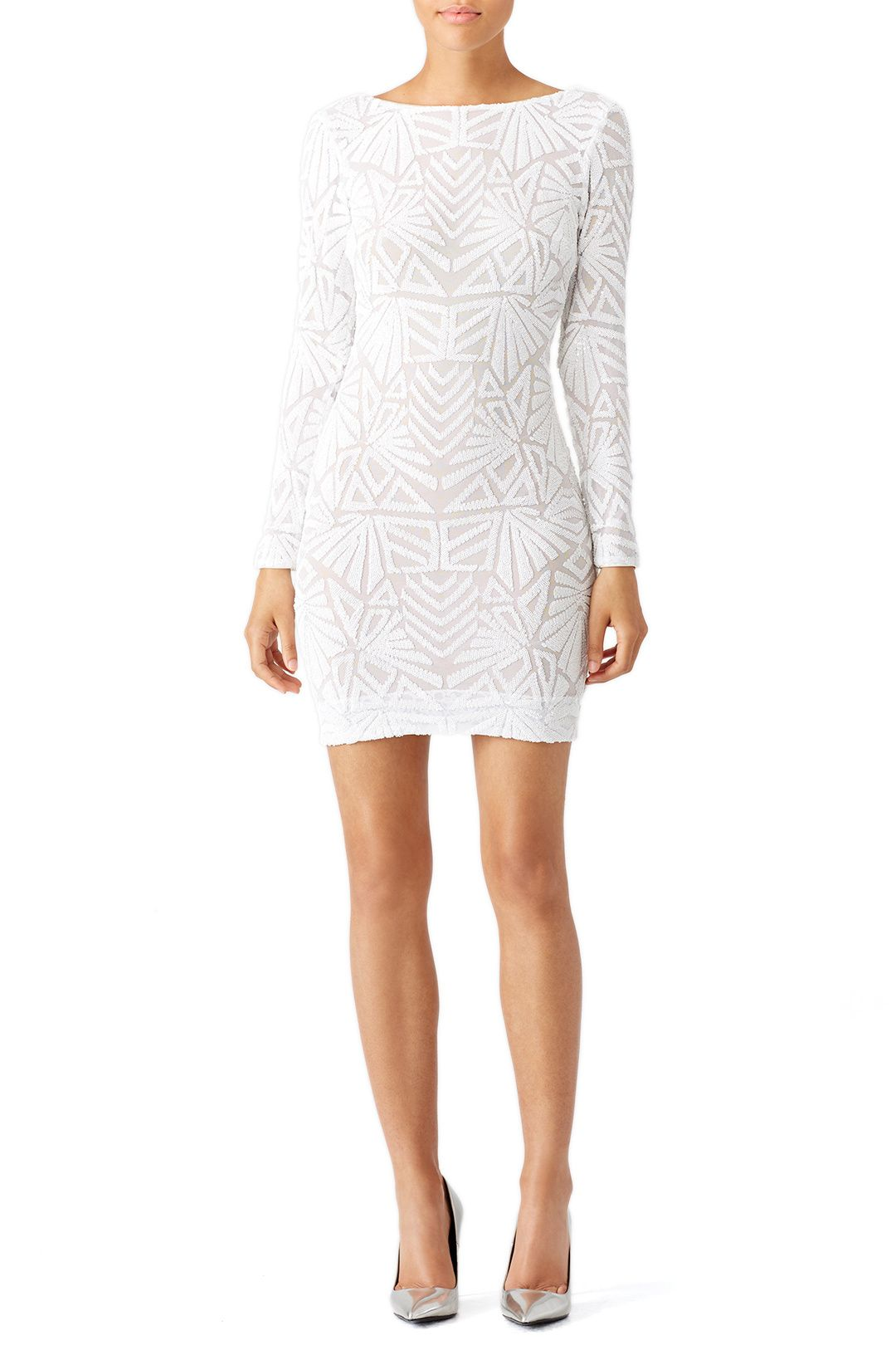 4bfc92f236b2 Rent White Carlene Dress by Dress The Population for  50 -  65 only at Rent  the Runway.