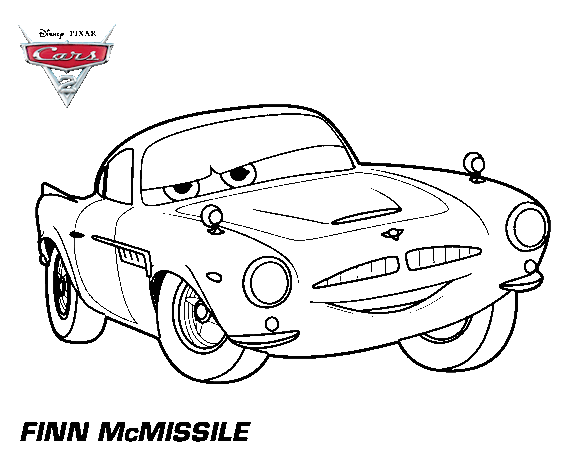 Finn Mcmissile Coloring Page Printable Disney Coloring Pages Disney Cars Coloring Pages